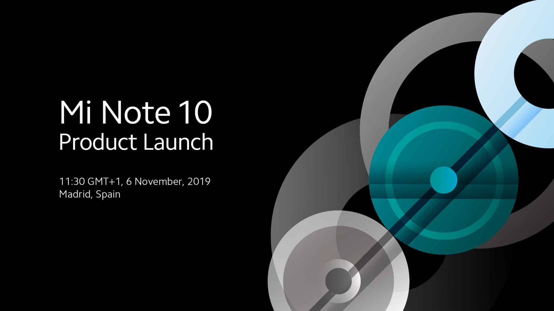 Mi Note 10 Launch Date