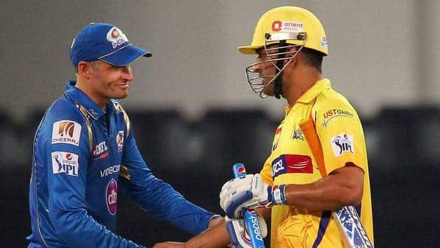 Mike Hussey and MS Dhoni