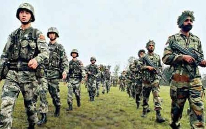 Indian Soldiers and Chinese Soldiers