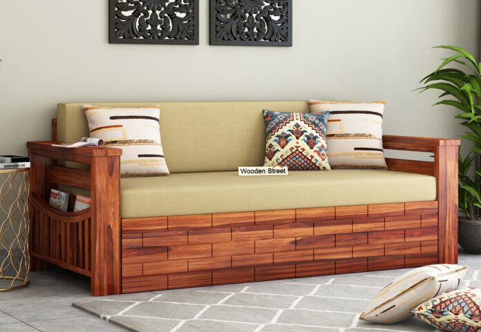 Sofa Cum Bed Wooden