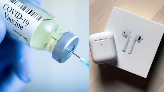 Apple Airpods on Vaccine