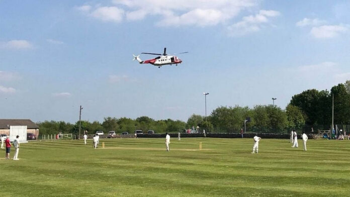 Cricket Match Stopped Due to Helicopter